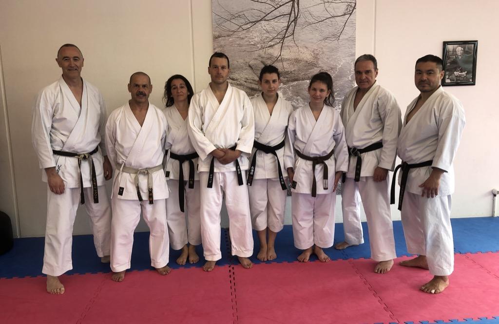 Gäste aus Shotokan-Dojo aus Poschiavo mit Funktioären der SKA und JKS